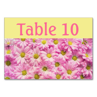 Table Card - Pink Gerbera Daisies