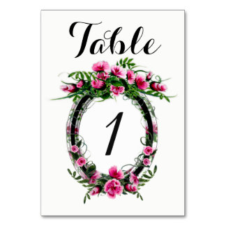 "TABLE CARD W FLOWER 3.5"" x 5"" Ultra-Thick Paper"