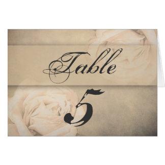 Table Cards - Vintage Rose Beige