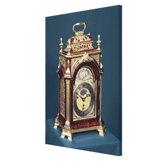 Table clock, c.1750 stretched canvas prints