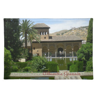 table cloth landscape Alhambra Granada Placemat