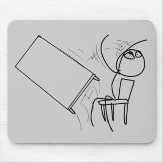 Table Flip Flipping Rage Face Meme Mouse Pad
