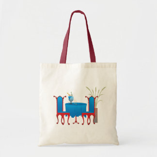 Table for Two Bags Budget Tote Bag