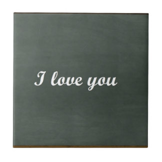 table I love you Tile