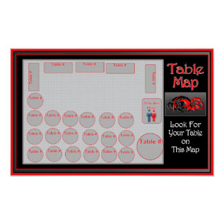 Table Location Map (horizontal) Poster