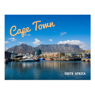 Table Mountain in Cape Town, South Africa. Postcard