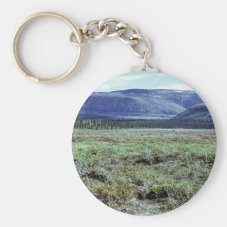 Table Mountain in Summer Basic Round Button Key Ring