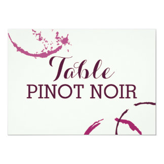 Table Name Cards | Types of Wine Theme 13 Cm X 18 Cm Invitation Card
