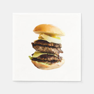Table napkin with big beef burger print disposable napkins