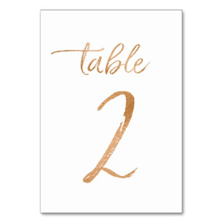 Table No. 2 Table Card