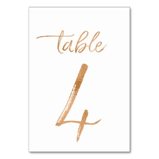Table No. 4 Table Cards