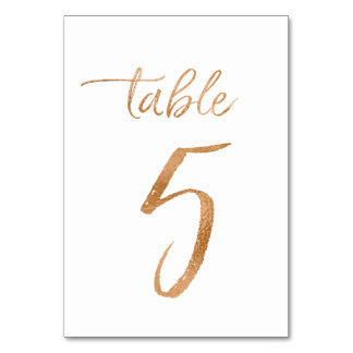 Table No. 5 Table Card