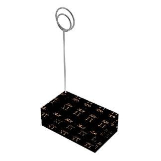 Table Number 11 Black Gold Elegant Typography Place Card Holder