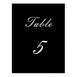 Table Number 5 Postcard