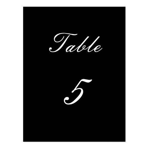 Table Number 5 Post Card