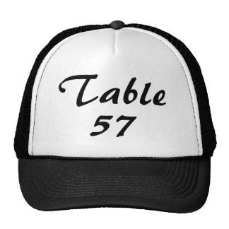 Table Number Cap