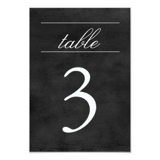 Table Number Card | Chalkboard