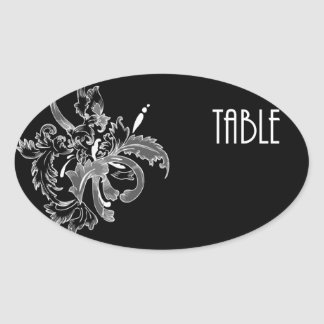 Table Number cCard Oval Sticker