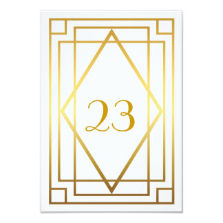 Table Number,Great Gatsby,elegant,chic,white gold Card