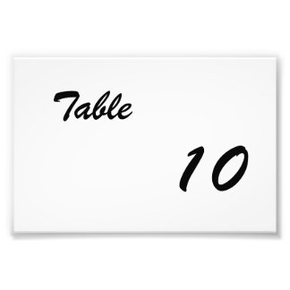 Table Number Photo