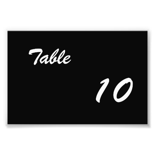 Table Number Photograph