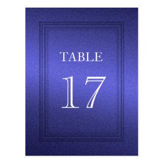 Table Number Plain Blue Shimmer Postcard
