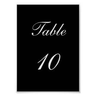 Table Number Poster