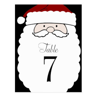 Table Number Simple Santa Postcard