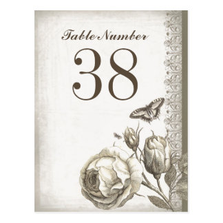 table number vintage cards