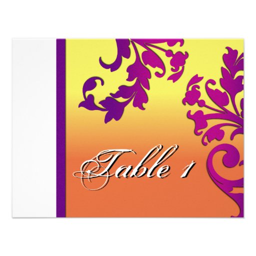 Table Number Wedding Card - Tropical Destination Invites