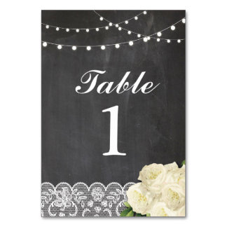 Table Numbers Wedding Lace Cards Chalk Display