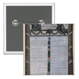 Table of the Declaration of the Rights of Man 15 Cm Square Badge