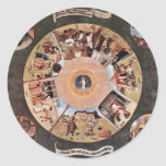 Table Of The Mortal Sins.,  By Hieronymus Bosch (B Sticker