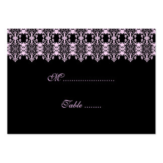 Table Place Card Damask Business Card