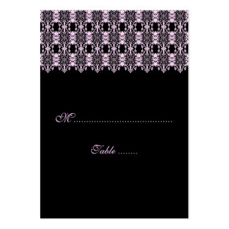 Table Place Card Pink Damask Business Card Templates