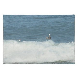 Table Place mat with Carolina ocean and pelican
