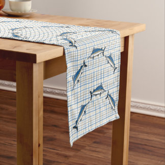 Table Runner - Blue Marlin on Plaid