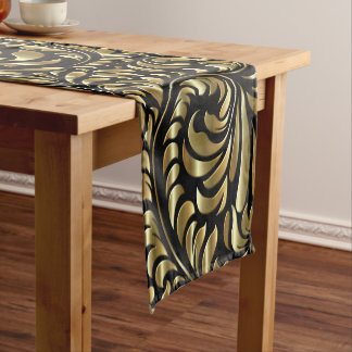 Table Runner - Drama in Black and Gold