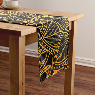 Table Runner Floral Doodle Gold G523
