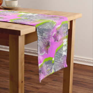 Table runner of 35.5 cm X 183 cm Zen Buddha