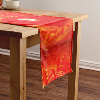 Table Runner Red Candles Candlelight Love Romantic