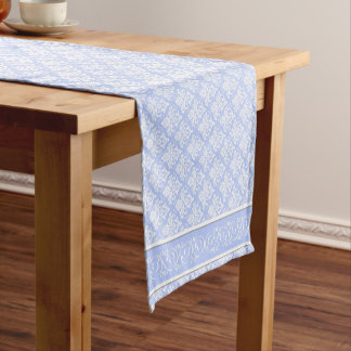 Table Runner - Wedgewood Blue Damask