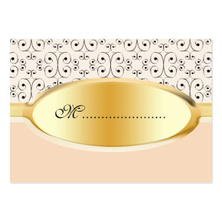 Table Seating Card Peaches and Cream Business Card Template