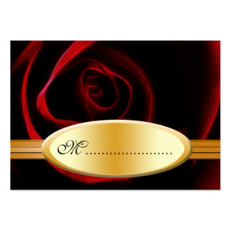 Table Seating Card Roses Are Red Business Card Template