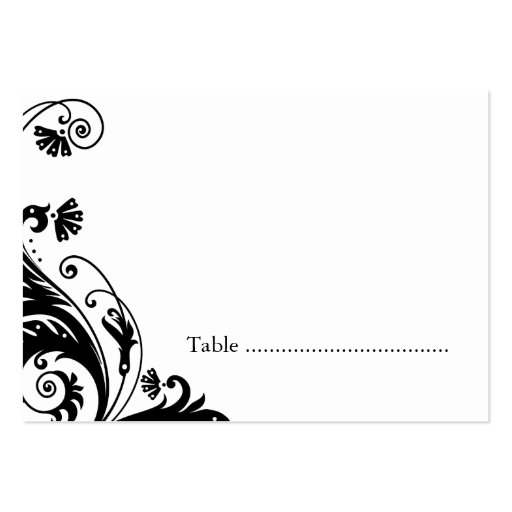 Table Seating Cards Business Card Templates