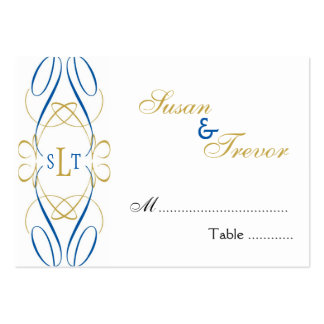 Table Seating Cards - Monogram Script Business Cards