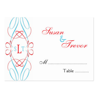 Table Seating Cards - Monogram Script Business Card Templates