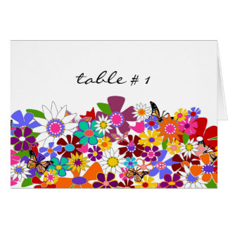 Table Seating Cards - Wedding