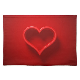 Table set 3D - Heart form with light and shade Placemat