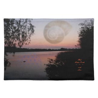 Table set ~ Heal Mother Earth ~ with Love Place Mat
